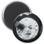 A Trip to the Moon Le Voyage dans la Lune 6 Cm Round Magnet
