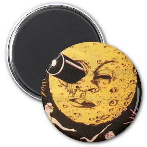 A Trip to The Moon Movie Poster 6 Cm Round Magnet