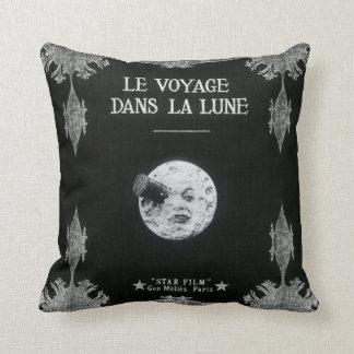 A Trip to the Moon or Le Voyage dans la Lune Retro Cushion