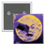 A Trip to the Moon (Purple Fizzy Fuzz) Pinback Buttons
