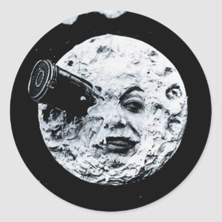 A Trip to the Moon Round Sticker