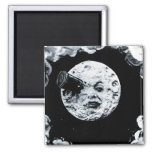 A Trip to the Moon Square Magnet