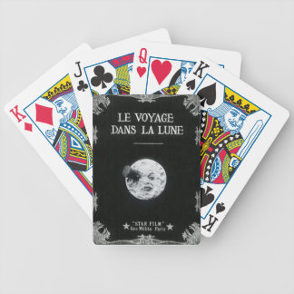 A Trip to the Moon Vintage Retro French Cinema Bicycle Playing Cards