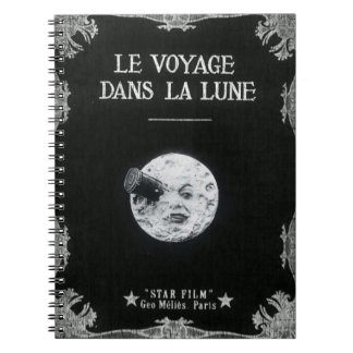 A Trip to the Moon Vintage Retro French Cinema Notebooks