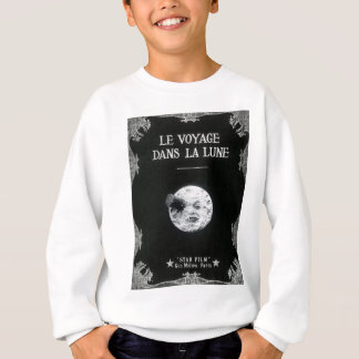 A Trip to the Moon Vintage Retro French Cinema Sweatshirt