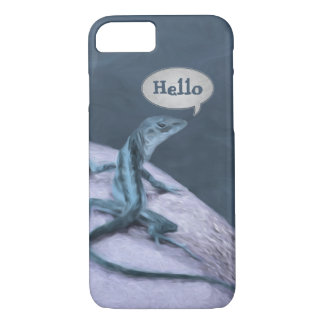 A Trippy Looking Teal Anole Lizard iPhone 8/7 Case