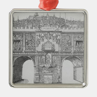 A Triumphal Arch, engraved by William Kip, 1604 Christmas Ornament