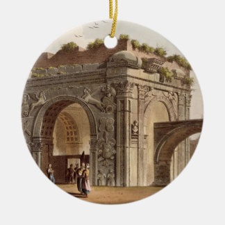 A Triumphal Arch of Tripoli in Barbary, plate 24 f Christmas Ornament