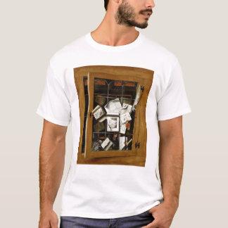 A trompe l'oeil of an open glazed cupboard T-Shirt