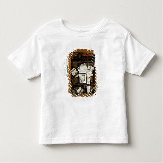 A trompe l'oeil of an open glazed cupboard toddler T-Shirt