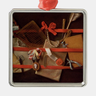 A Trompe L'Oeil of Objects Christmas Ornament