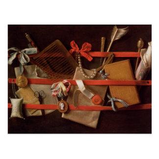 A Trompe L'Oeil of Objects Postcard