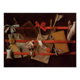 A Trompe L'Oeil of Objects Poster