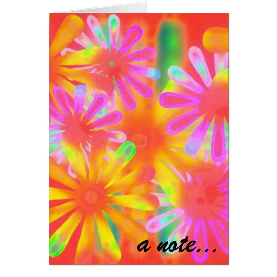 a tropical note card