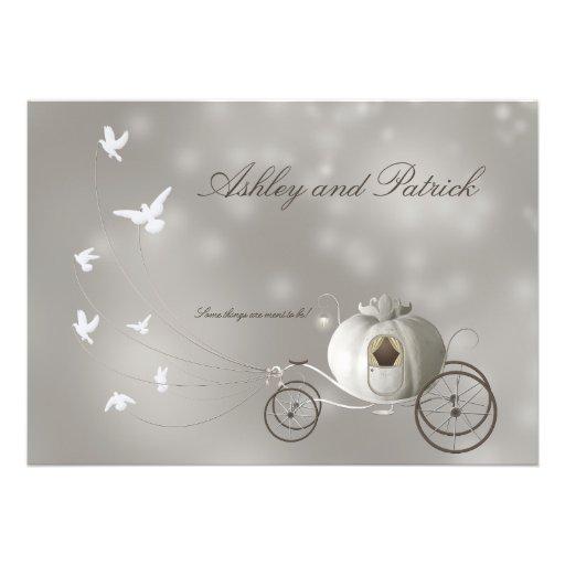 A True Fairy Tale Wedding Invitation