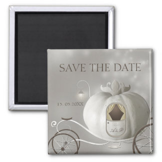 A True Fairy Tale Wedding Save the Date Square Magnet