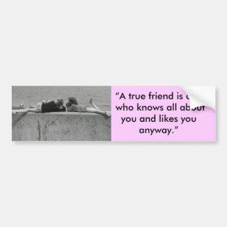 A True Friend Bumper Sticker