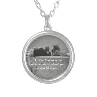 A True Friend Silver Plated Necklace