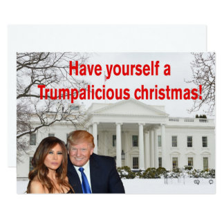 A Trumpalicious christmas from Donald and Melania Card