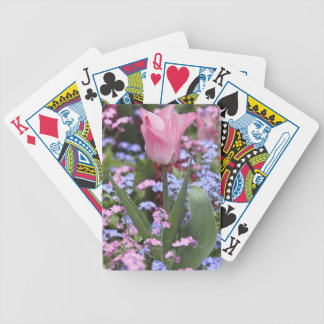 A tulip at Luxembourg Gardens, Paris, France Poker Deck