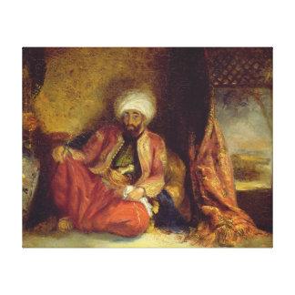 A Turk Smoking a Pipe Canvas Print