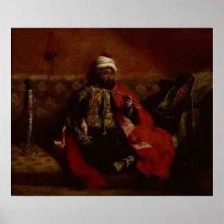 A Turk smoking sitting on a sofa, c.1825 Poster