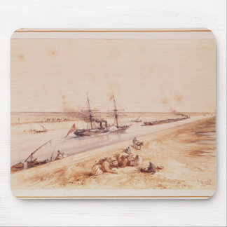 A Turkish Paddle Steamer Going Up the Suez Canal Mouse Pad
