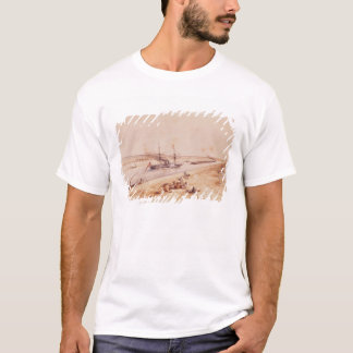 A Turkish Paddle Steamer Going Up the Suez Canal T-Shirt