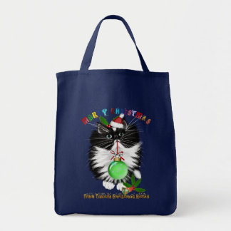 A Tuxedo Kitten Christmas Bag