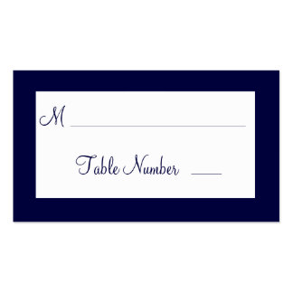 A Twinkle Lights Wedding Place Cards (navy) Pack Of Standard Business Cards