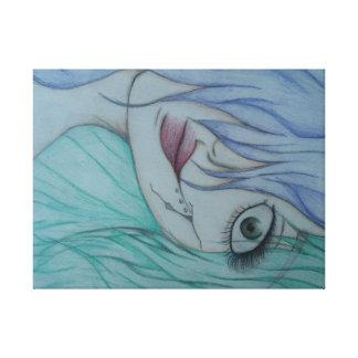 A twist on the little mermaid canvas print