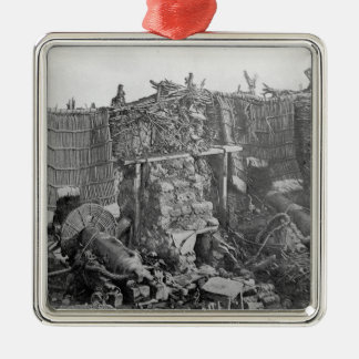 A Two Gun Battery during the Crimean War, c.1855 Silver-Colored Square Decoration