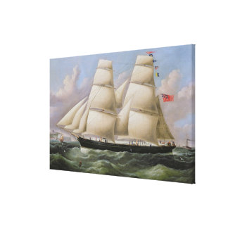 A Two Masted Schooner off Dover (oil on canvas) Canvas Print