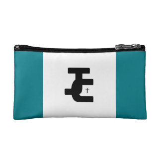 A two tone make-up case makeup bags