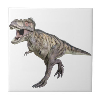 A Tyrannosaurus Rex Running to the Right Small Square Tile