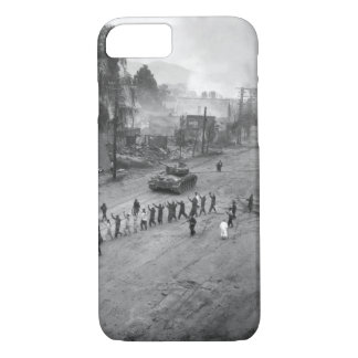 A U.S. Marine tank follows_War Image iPhone 7 Case