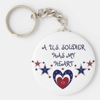 A U.S. SOLDIER HAS MY HEART Keychain