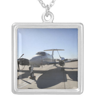 A  UC-12F King Air aircraft Silver Plated Necklace