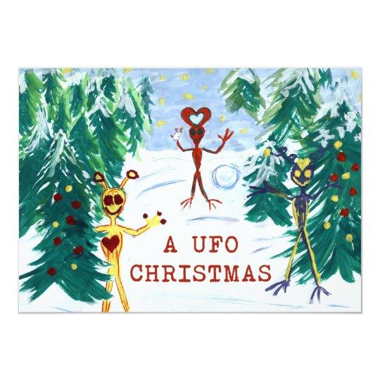 A UFO Christmas Card