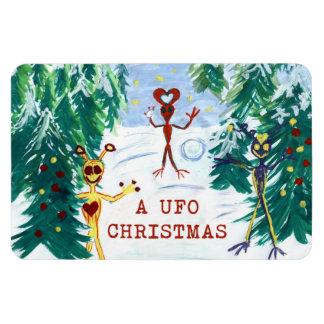 A UFO Christmas Flexible Magnet