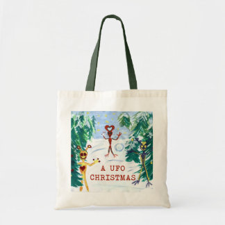 A UFO Christmas Tote Bag