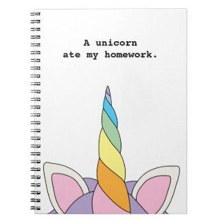 A Unicorn Ate My Homework Notebook
