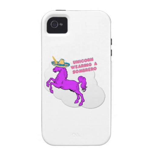 A unicorn wearing a sombrero iPhone 4/4S covers