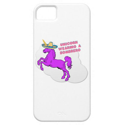 A unicorn wearing a sombrero iPhone 5 case