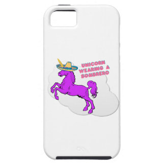 A unicorn wearing a sombrero iPhone 5 cases