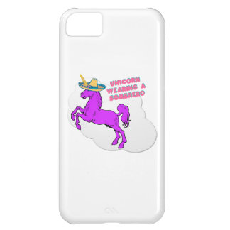 A unicorn wearing a sombrero iPhone 5C case