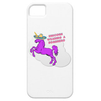 A unicorn wearing a sombrero iPhone 5 case