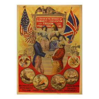 A Union in the Interest of Humanity [1898] Poster