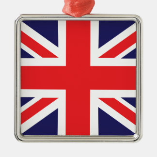 A Union Jack flag. Christmas Ornament