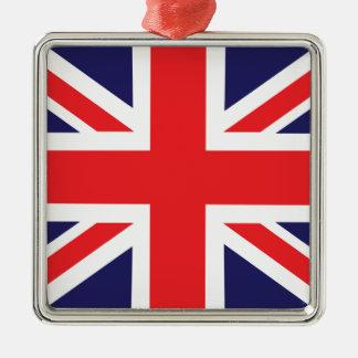 A Union Jack flag. Christmas Ornament